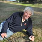 Roxburgh Golf Club member Ralph Nichol finds his golf ball - but not in the hole he intended -...