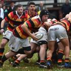 Zingari-Richmond No8 Chris Bell peels off the back of a scrum during a premier match against...