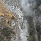 A slip in the Shotover Canyon, near Queenstown, has been assessed as  a ''low risk'' by a...