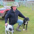 Brian Dickison, of Waikaka, said honest dogs were important for dog trialling success. Cole (left...
