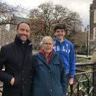 Canon Michael Wallace, his mother Margaret and son Ewen  Clarke-Wallace at the University of...