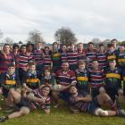 Taieri and Kavanagh College First XVs after their game at Taieri College last Thursday. Photos:...