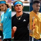 A new tennis rivalry including (from left) Stefanos Tsitsipas, Alexander Zverev and Felix Auger...