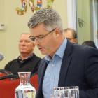 Winton Group and River Terrace project manager Marc Bretherton gives evidence at the hearing into...