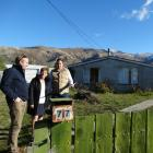 Wanaka Primary School principal Wendy Bamford meets board member Mitch Campbell (right) and...