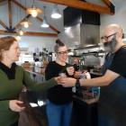 Plastic Free Wanaka's Sophie Ward (left) and Federal Diner owner Brona Parsons taste-test a...