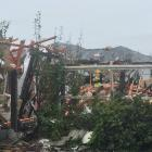 The blast destroyed one house and caused significant damage to those surrounding it. Photo: Amber...