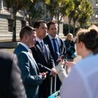 Sick Southland dad Blair Vining's petition for better cancer care in New Zealand is delivered to...