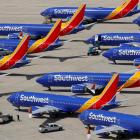 Grounded Southwest Airlines Boeing 737 MAX 8 aircraft are at Victorville Airport in Victorville,...