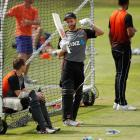 Kane Williamson at a net session at Lord's in London. Photo: Reuters