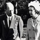 In good company: Nic Leefe escorts the Queen around Queenstown Gardens in March, 1970. Photo: via Mountain Scene