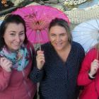 Organisers of Cromwell's Light Up Winter (from left) Marion Low, Brigitte Tait and Gretchen...