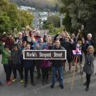 About 30 people attended a gathering on Dunedin's Baldwin St on Saturday to protest the world's...