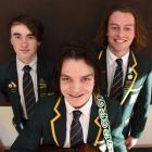 Bayfield High School pupils (from left) Matt Clarkson, Cameron Livingstone and Ben Hayward will...