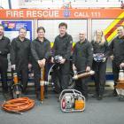 Wanaka Volunteer Fire Brigade Road Crash Rescue Challenge team members (from left) Mark Strang,...