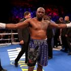 Dillian Whyte after beating Dereck Chisora late last year. Photo: Getty Images