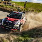 Dunedin's Emma Gilmour on her way to winning the Otago Sports Car Club's Circle Hill Rallysprint...