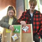 Health science students Diana Barbu (18), of Ashburton, and Harrison Groom (19), of Wellington,...