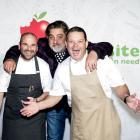 MasterChef judges (l-r)  George Calombaris, Matt Preston and Gary Mehigan at an event in...