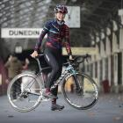Rookie professional road cyclist Ella Harris is back in dunedin for a brief break. Photo: Gerard...