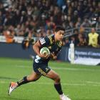 Highlanders first five-eighth Josh Ioane looks to take on the Jaguares defence at Forsyth Barr...