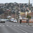 The scene of a fatal car versus pedestrian on Thursday evening. Photo: Gregor Richardson