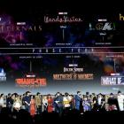 The Marvel Cinematic Universe Phase Four is announced with cast members during the Marvel Studios...