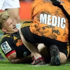 Chief player Damian McKenzie was injured against the Blues. Photo: Getty Images