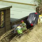 A seriously injured woman was taken to hospital after being extracted from this car in Queenstown...