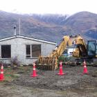 The Wanaka Primary School teacher's residence moments before it was demolished. PHOTOS: KERRIE...