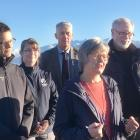 Conservation Minister Eugenie Sage (centre) announces a $7.5million funding boost to help protect...