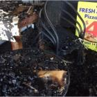 The aftermath of the fire at the Pizza Box in Paeroa. Photo: Supplied / Vivien Leonard