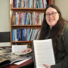 Researcher Renee Hollis compiles a book of letters from World War 2. Photo: Christine O'Connor