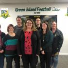 Some of the Green Island Junior Football Committee (from left) secretary Sherree Hasler,...