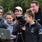 Otago Polytechnic students who were involved in performing analysis for the Silver Ferns during...