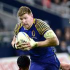Adam Thomson in action for Otago in 2012. Photo: peter Mcintosh