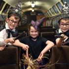 Preparing to ride the Enchanted Express during the upcoming school holidays are (from left) Leo...