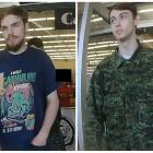 Kam McLeod (L) and Bryer Schmegelsky are seen in still images from CCTV in Meadow Lake,...