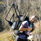 Andrew Glennie is preparing for the Northburn 100km Ultra race, when he will carry a lawnmower...