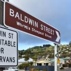 The DCC is still deciding how to handle Baldwin St's reduced status. Photo: Peter McIntosh