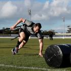 Ben Smith runs through drills during a New Zealand All Blacks training session. Photo: Getty Images
