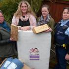 Gore Women's Refuge staff (from left) Audrie Addison, Sam Munro and Ashleigh Martin, and...