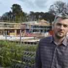 High Street co-housing architect Tim Ross talks about the project outside the construction site....