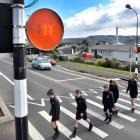 Tahuna Normal Intermediate pupils (from left) Regan Buchan (12), Max Stevenson (12), Alex...