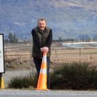 Three Parks developer Allan Dippie where State Highway 84 and Sir Tim Wallis Dr will meet. Photo:...