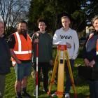 Otago Polytechnic  civil engineering senior lecturer Michael Mullens (left) and polytechnic civil...
