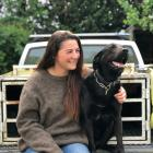 Elle Perriam and her black huntaway, Jess. Photo: Supplied