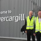 Invercargill Airport general manager Nigel Finnerty (left) and chairman Tommy Foggo  are ready to...