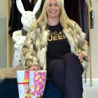 Notion Fashion owner Megan Fairley in her concept room, wearing one of her Chocolate Queen T...