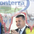 Rabobank dairy analyst Emma Higgins (left), Fonterra chief executive Miles Hurrell (centre) and...